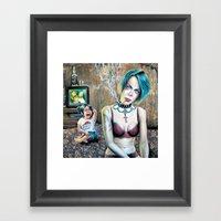 Polly wants a cracker Framed Art Print