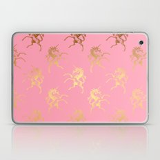 Golden Unicorns on rose quartz pattern Laptop & iPad Skin