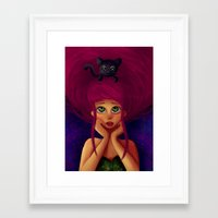Framed Art Print featuring Oh, Hello.  by Mickey Spectrum