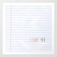 ...I Love you Art Print
