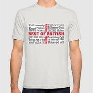English Slang On The St … Mens Fitted Tee Silver SMALL
