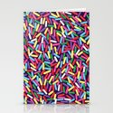 Encrusted With Sprinkles Stationery Cards