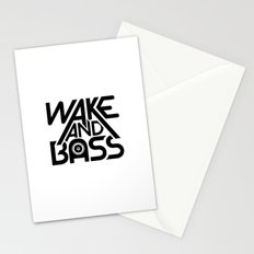 Wake And Bass (Black) Stationery Cards