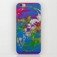 the 4i skull - mixed media on canvas iPhone & iPod Skin