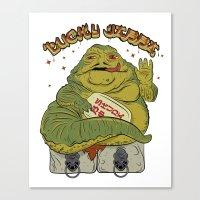 Maneki Jabba Canvas Print