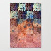 Digital Checkerboard Canvas Print