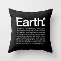 Earth.* Available for a limited time only. Throw Pillow