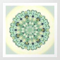 Damsel Wing Mandala I= Art Print