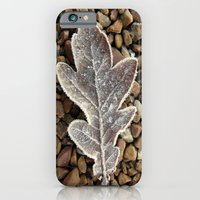iPhone & iPod Case featuring Frozen Leaf by Neville Hawkins