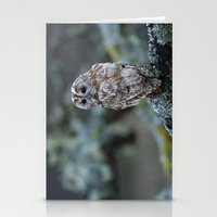 TAWNY OWL LOOKING Stationery Cards
