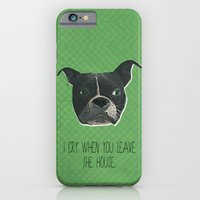 Boston Terrier Print iPhone 6 Slim Case