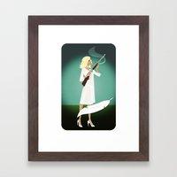 Betty's BB Gun Framed Art Print