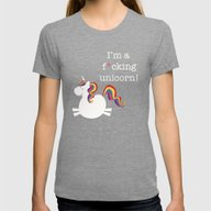 Unicorn - I'm A Maturely… Womens Fitted Tee Tri-Grey SMALL