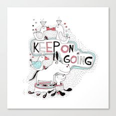 keep on going Canvas Print