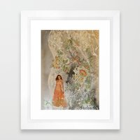 A romantic touch Framed Art Print