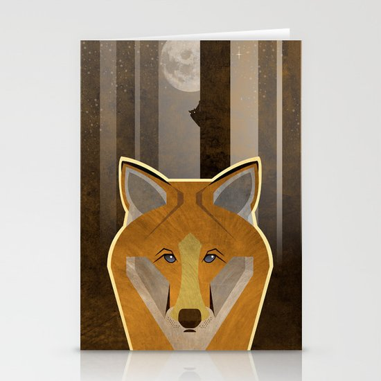 Night Fox Stationery Card