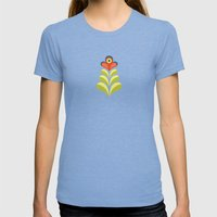 Betty's Garden Womens Fitted Tee Tri-Blue SMALL