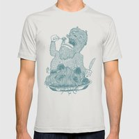 Yeti Spaghetti Mens Fitted Tee Silver SMALL