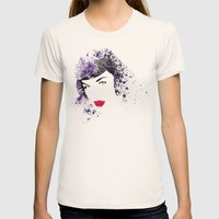 Queen Of Pin-Up Womens Fitted Tee Natural SMALL