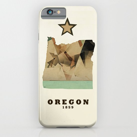 Oregon state map modern iPhone & iPod Case
