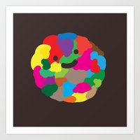 Happy Colour Ball Art Print