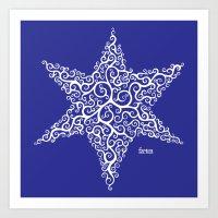 David's Star Art Print