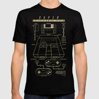 Super Entertainment System (dark) Mens Fitted Tee Black SMALL