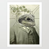 Frog Internal Portrait Art Print