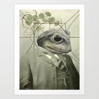 Frog Internal Portrait Art Print