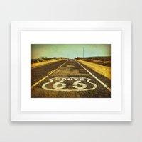 Route 66 Road Marker Framed Art Print