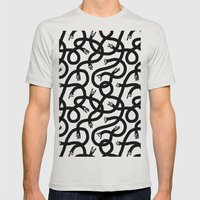 Hands Hands Hands Mens Fitted Tee Silver SMALL