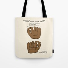 Baseball Glove Patent Tote Bag