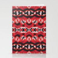 Montana Stripe - Cherry Stationery Cards