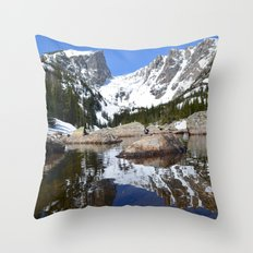 Dream Lake Reflections Throw Pillow