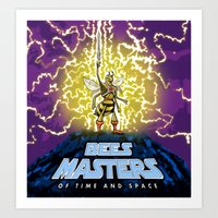 Bees Masters Of Time And… Art Print