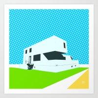 Bauhaus Meisterhaus Pop 4 Art Print