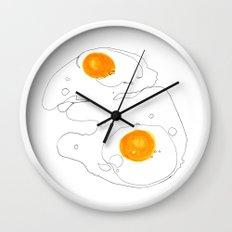 Eggs for breakfast Wall Clock