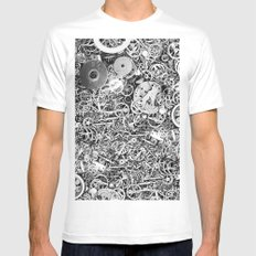 Bits of the work SMALL White Mens Fitted Tee