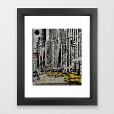 Somewhere In New York Ci… Framed Art Print