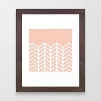 LACE CHEVRON (PEACH) Framed Art Print