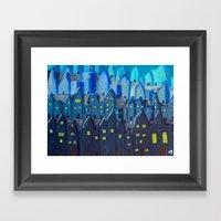 Cidade à Noite Framed Art Print