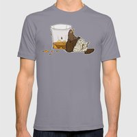 Thirsty Grouse - Colored… Mens Fitted Tee Slate SMALL