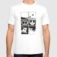 Death White SMALL Mens Fitted Tee