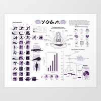 Yoga Infographic Art Print