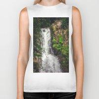 Rainforest Waterfall Biker Tank