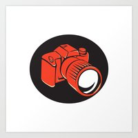 DSLR Digital Camera Fron… Art Print