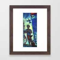 Musician Kid. Framed Art Print