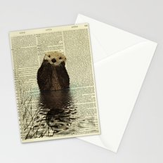 Otter in Love Stationery Cards