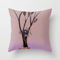 Eat Trees Eat Throw Pillow