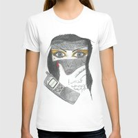 Banana Call Womens Fitted Tee White SMALL